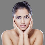 Beauty face of woman with soft skin Royalty Free Stock Photos