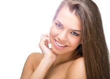 Beauty face of young beautiful woman with health clean skin Royalty Free Stock Photography