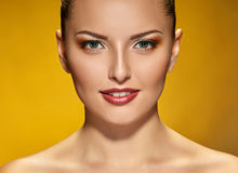 Beauty face of young pretty woman Royalty Free Stock Photos