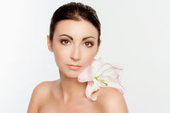 Beauty face of young woman Royalty Free Stock Images