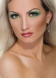Fashion Makeup green Royalty Free Stock Image
