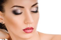 Beauty face of pretty woman Royalty Free Stock Photography
