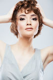 Beauty face of young woman Stock Image