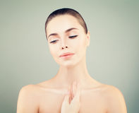 Beauty Face of Young Woman. Skin Care Concept Royalty Free Stock Images