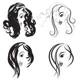 Beauty-faces Royalty Free Stock Photography