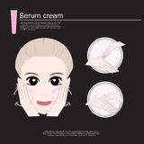 Beauty facewash woman, skin care. Stock Images