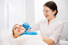 Beauty facial injections Royalty Free Stock Photography