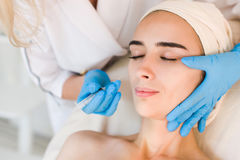 Beauty facial injections Stock Images
