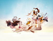 Beauty Falling Royalty Free Stock Photos