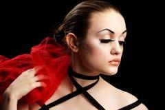Beauty and False Eyelashes Stock Photography
