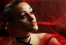 Beauty and False Eyelashes Royalty Free Stock Image