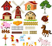 Beauty farm animal and farm tool for you design Stock Image