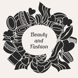 Beauty and fashion background design with cosmetic Royalty Free Stock Photos