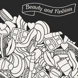 Beauty and fashion background design with cosmetic Stock Photography