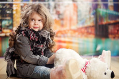 Beauty and fashion child girl Stock Image