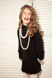 Beauty and fashion child girl Royalty Free Stock Photos