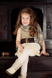 Beauty and fashion child girl Stock Images