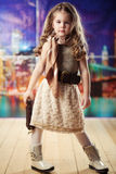 Beauty and fashion child girl Royalty Free Stock Photography