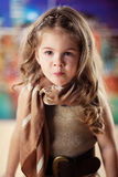 Beauty and fashion child girl Royalty Free Stock Images