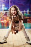 Beauty and fashion child girl Royalty Free Stock Photo