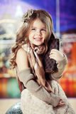 Beauty and fashion child girl Royalty Free Stock Image