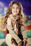 Beauty and fashion child girl Stock Photography