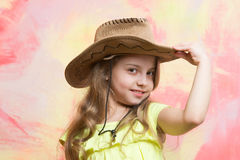 Beauty and fashion, childhood and happiness, west and discovery, cowboy Royalty Free Stock Image