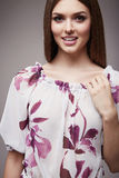 Beauty fashion clothes casual collection woman model brunette Stock Photo