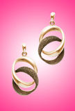 Beauty fashion concept - earrings Stock Images