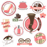 Beauty and fashion emblems Royalty Free Stock Photos