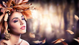 Beauty Fashion Girl In Autumn Stock Images