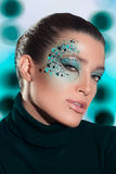 Beauty Fashion Girl with Fantasy Makeup. Carnival. Beauty brunette with fantasy make-up Royalty Free Stock Photo