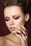 Beauty fashion glamour girl portrait Stock Image