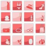 Beauty fashion icons Royalty Free Stock Image