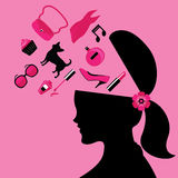 Beauty Fashion and Lady Lifestyle Vector and Icon Stock Photo