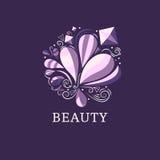 Beauty and fashion logo template. Stock Photo