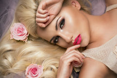 Beauty fashion model Royalty Free Stock Images