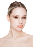 Beauty fashion model with natural makeup skin care. And spa treatment Royalty Free Stock Photos