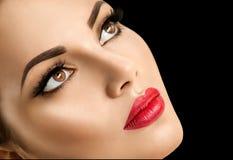 Beauty fashion model woman face Royalty Free Stock Photos