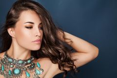 Beauty and fashion portrait royalty free stock images