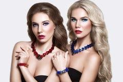 Beauty Fashion Portrait of Glamorous Women. Fashion Models Royalty Free Stock Photo