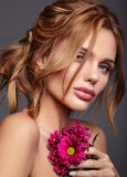 Young model with natural makeup and perfect skin Stock Photography