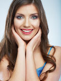 Beauty fashion style  portrait of happy young smil Stock Photography