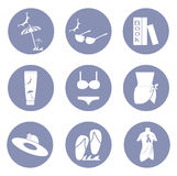 Beauty fashion summer icon set, clothing for design presentation in  Stock Images