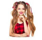 Beauty fashion teenage girl. Isolated on white background royalty free stock images