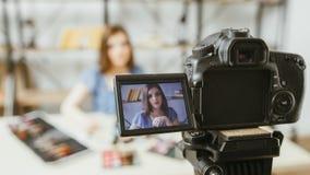 Beauty fashion vlog business woman digital camera stock photo