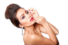 Beauty fashion woman royalty free stock images