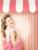 Beauty and fashion woman shopping at salon store Stock Photo