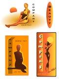 Beauty female company design Royalty Free Stock Photo
