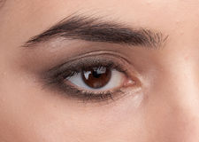 Beauty female eye stock image
